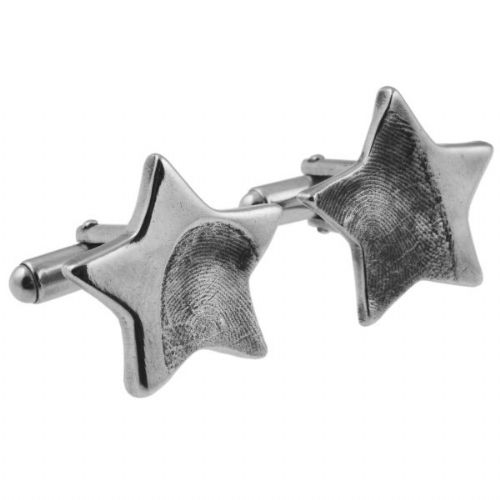 Star Partial Fingerprint Cufflinks